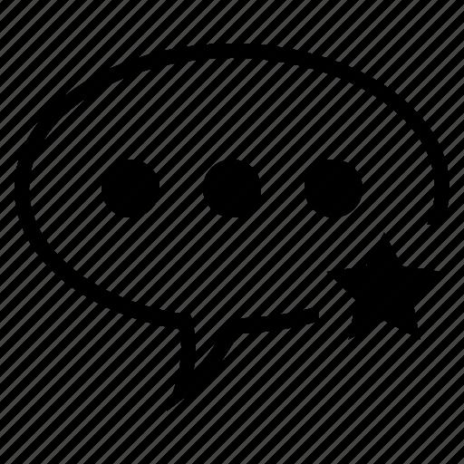 Bubble, comment, favorite, speech, speech bubble, star, star comment icon - Download on Iconfinder