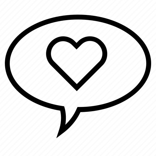 Bubble, comment, heart, heart symbol, love, speech, speech bubble icon - Download on Iconfinder