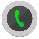 dial, function, green, mobile, phone icon