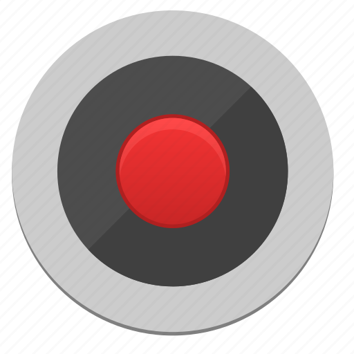 dot, function, player, record, red icon