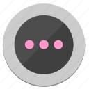 circle, dots, function, menu, round icon