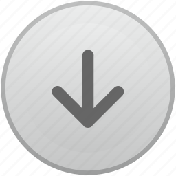 arrow, bottom, down, function, key, keyboard, mobile icon