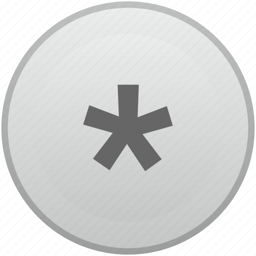 asterisk, key, keyboard, mobile, sign icon