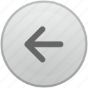 arrow, function, keyboard, left, mobile icon