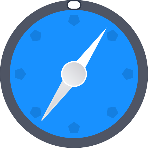 Navigate, direct, maps, safari, compass, directions, browser icon