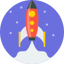 blast off, launch, rocket, ship, space, spaceship, mintie icon