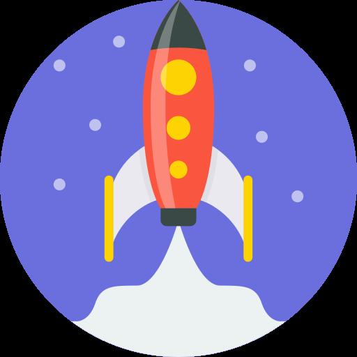 blast off, launch, mintie, rocket, ship, space, spaceship icon