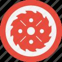 blade, circular, cut, round, wood icon