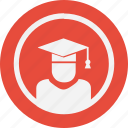 education, magister, round, science icon