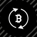 bitcoin, exchange, money, transfer, value icon
