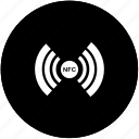 api, chip, nfc, payment, round, service, wireless icon