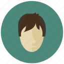 avatar, boy, child, face, round icon