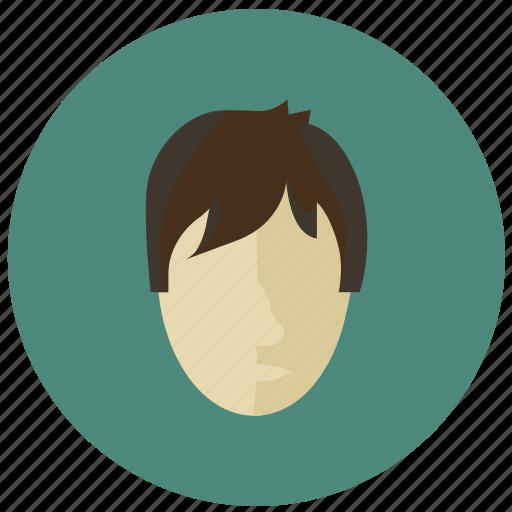 avatar, boy, child, face, round icon