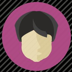 avatar, face, indian, man, round icon