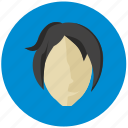 avatar, face, lady, round icon