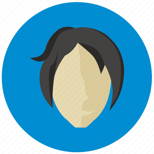 avatar, face, lady, round icon