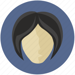 avatar, hair, round, short, style, woman icon