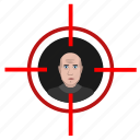 kill, man, person, shooter, target icon