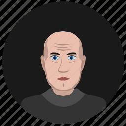 avatar, face, man, old, round, terrorist icon