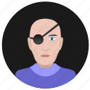 avatar, face, man, old, pirate, round, terrorist icon