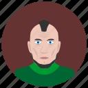 avatar, face, man, punk, rock, round icon