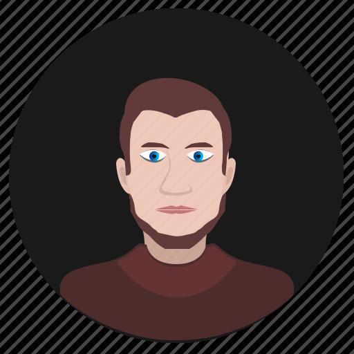 avatar, face, man, romantic, round, terrorist icon