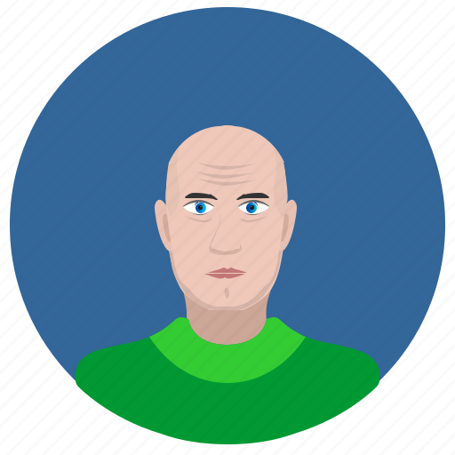 face, man, old, person, round icon