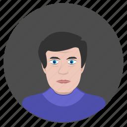 avatar, face, male, man, person, school icon