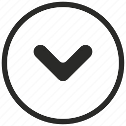 arrow, circle, direction, down, expand icon