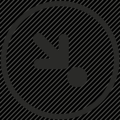 arrow, click, clicking, cursor, direction, down, move icon