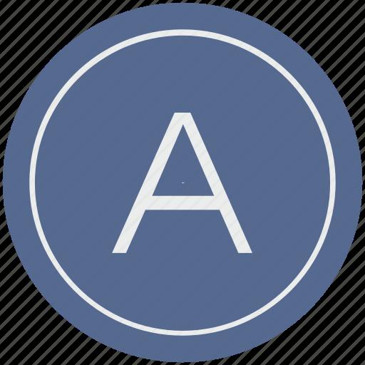a, english, latin, letter, uppercase icon