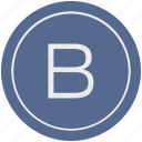 b, english, latin, letter, uppercase icon
