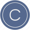 c, english, latin, letter, uppercase icon
