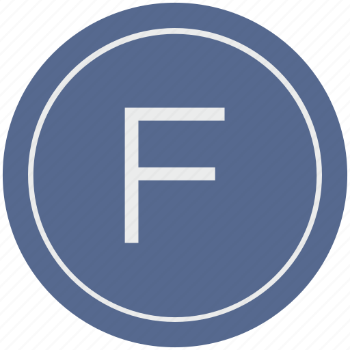 english, f, latin, letter, uppercase icon
