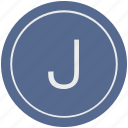 english, j, latin, letter, uppercase icon
