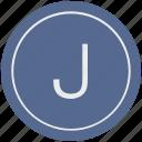 english, j, latin, letter, uppercase