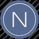 english, latin, letter, n, uppercase