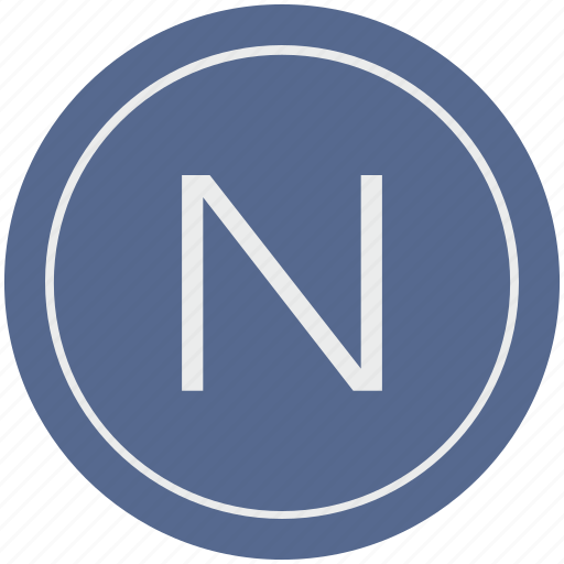 english, latin, letter, n, uppercase icon