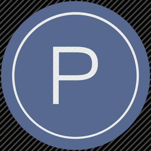 english, latin, letter, p, uppercase icon