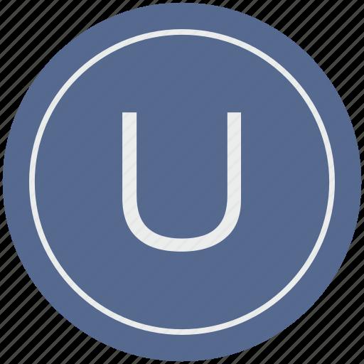 english, latin, letter, u, uppercase icon