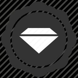 brilliant, diamond, label, round, sticker icon