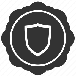 guard, label, round, safety, security, sticker icon