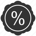label, percent, round, sale, shopping, sticker icon