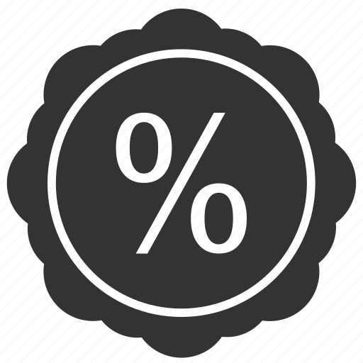 label, percent, round, sale, shopping, sticker icon