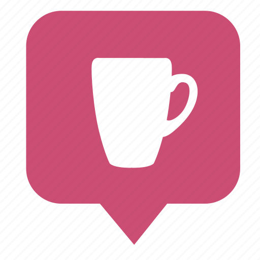 coffee, cup, geo, map, pointer, tea icon