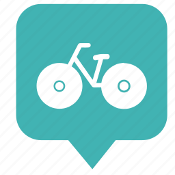 cycle, geo, map, pointer, sport icon