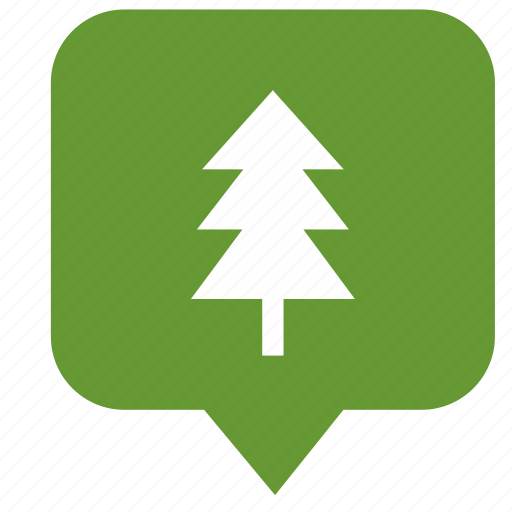 fir, geo, location, pointer, tree icon