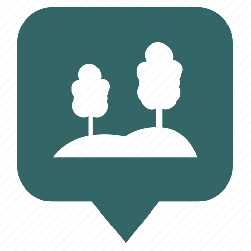 forest, geo, location, place, pointer, tree icon