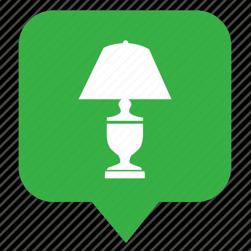 geo, lamp, light, location, map, pointer icon