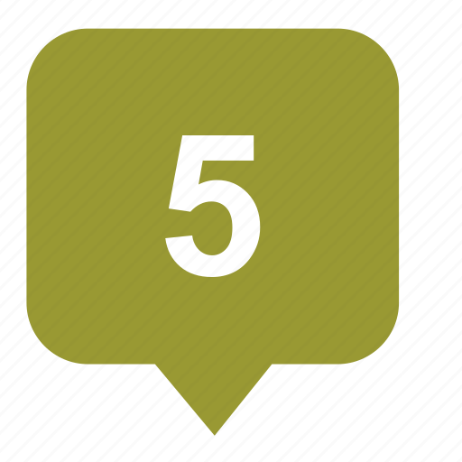 five, geo, map, place, pointer icon
